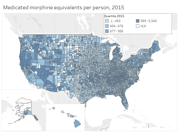 Morphine Medicated Per Person, 2015